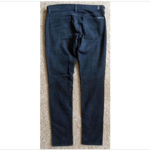 7 for all Mankind Roxanne Slim Fit Black Jeans 29